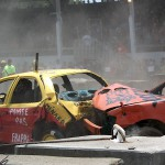 A demolition derby heat at the Ormstown Fair. The cars werent the only things experiencing heat. Photo: Hayley Juhl