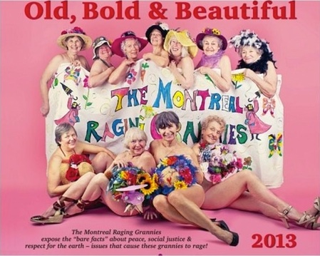 Raging Grannies, bold and bare, fight fire with tears of laughter