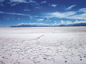 Sea of salt on route to Chile