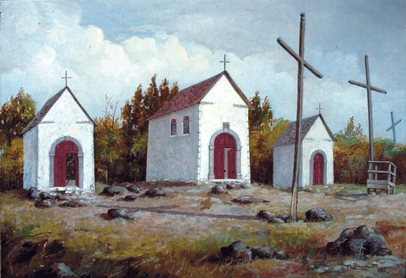 The Calvary, Two Mountains, Quebec, by Henry Richard S. Bunnett, 1885. What a lovely place for a day trip.
