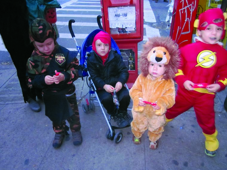 New Yorkers were out living life, trick-or-treating after Superstorm Sandy.