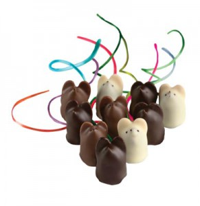 Chocolate mouses—not mousses—from L.A. Burdick Handmade Chocolates.