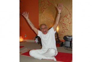 Madan Bali, who teaches joy, wants yoga to be rolled into Quebec's medicare system. (Photo by Hayley Juhl)