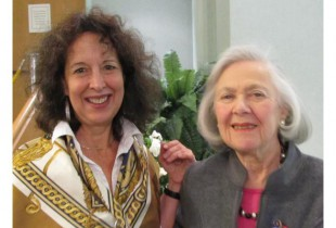 Sharon Gubbay Helfer (left) with 