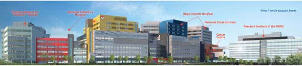 The MUHC superhospital is expected to receive its first patients in the 2015. (Image courtesy of the MUHC)