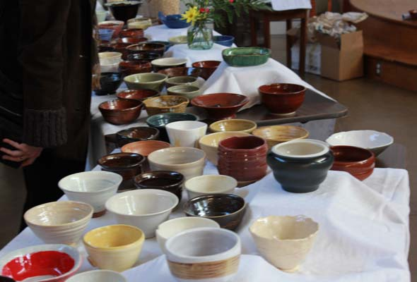 Buy pottery at Empty Bowls events to help feed the hungry
