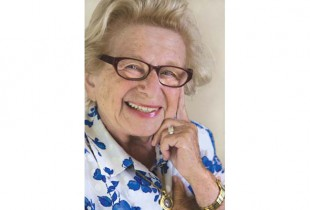 Dr. Ruth Westheimer. Photo courtesy of Quill Driver books