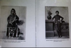 what residential school did, before and after shot