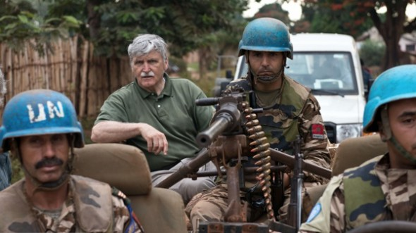 "Director Patrick Reed (left) didn't set out to make an ""activist"" film when he decided to work on Roméo Dallaire's (centre) Fight Like Soldiers, Die Like Children. (Photo by Peter Bregg)"