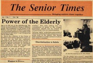 The Senior Times in the '80s: Letting you in on a few hot issues