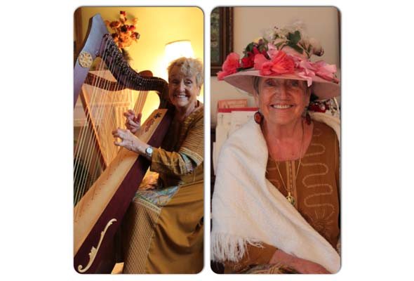 Marguerite Bilodeau is a harp-playing Raging Granny.