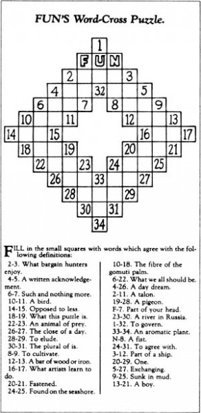 The first crossword.