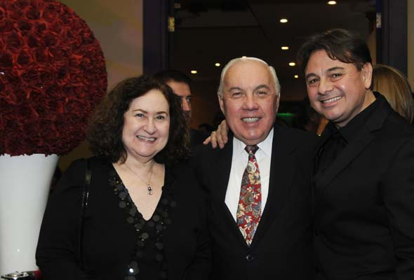 Johnny Capobianco, right, with Natalie and Adrian Bercovici.