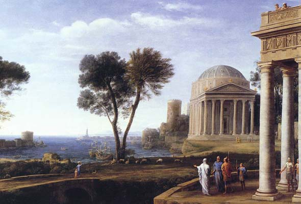 Aeneas as envisioned by painter Claude Lorrain in the 17th century.