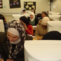 Women study information technology in Amman, part of a program that fosters equality. (Photo courtesy of ICAN)