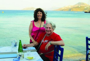 Barbara Moser and Irwin Block in Leros, Greece, in 2012.