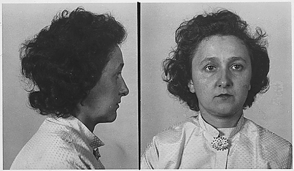 Ethel Rosenberg's mugshot. (Library of Congress)