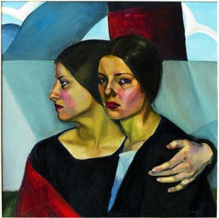 Prudence Heward (1896-1947): Immigrantes; 1928; Huile sur toile; 66 x 66 cm; Toronto, collection particulière (Photo Sean Weaver)  Prudence Heward (1896-1947): The Immigrants; 1928; Oil on canvas; 66 x 66 cm ; Toronto, private collection (Photo Sean Weaver)