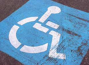 Driver calls for free parking for the handicapped