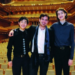 L to R: Violinists Zeyu Victor Li, Marc Bouchkov, Stephen Waarts 2013 Award Winners. Photo: Courtesy of CMIM