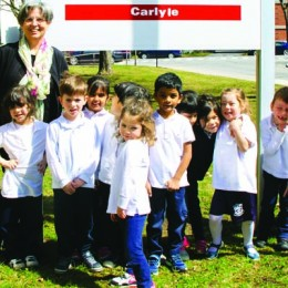 Miss Roula spreads joy at TMR's Carlyle Elementary School preschool classes