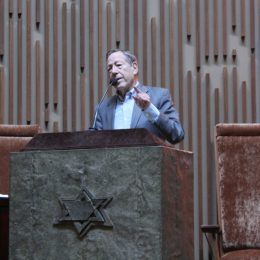 """Never Again"" means human rights for all, Cotler tells men's club. Photo: Charles Eklove"