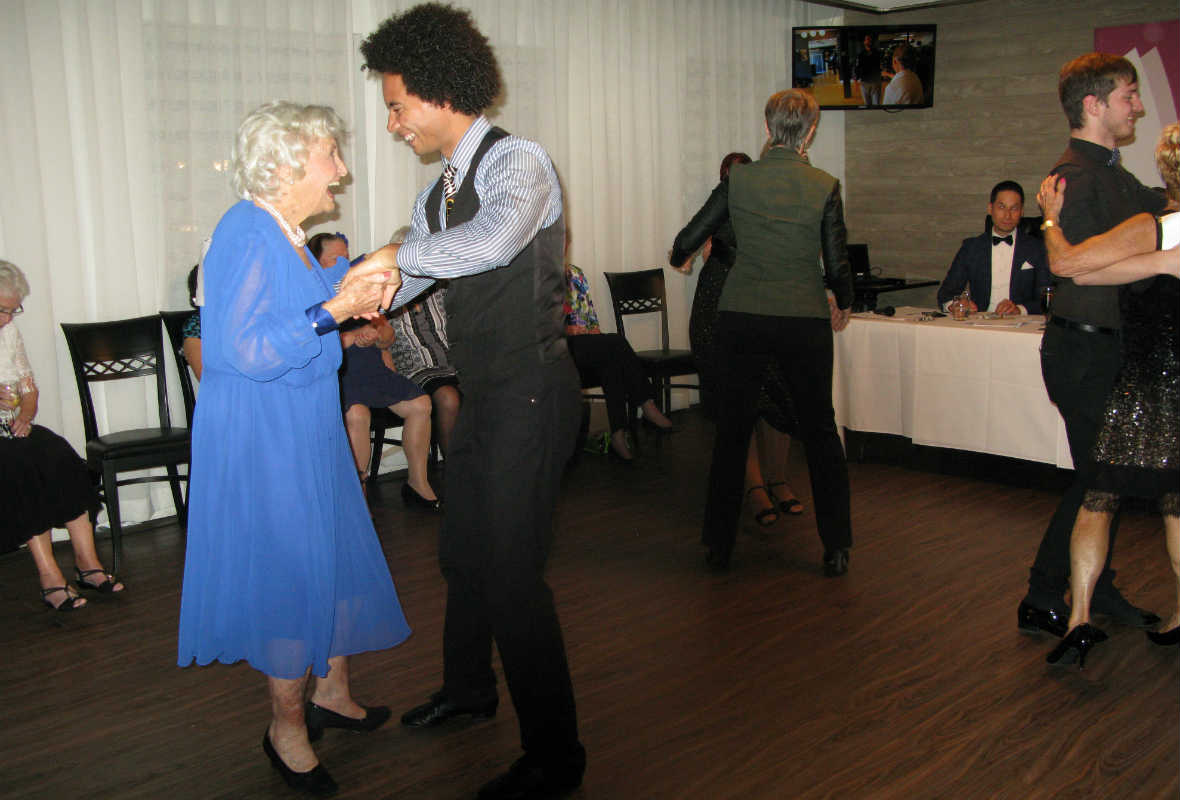 The senior times dancing for a cause seniors raise for Table 09 restaurant pointe claire