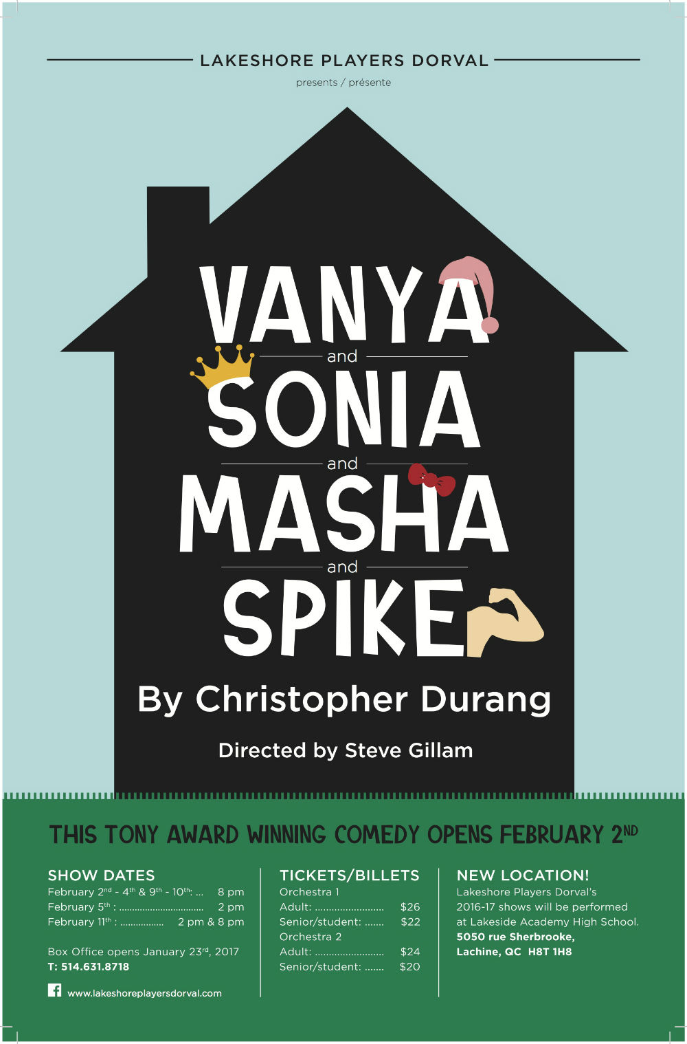 Lakeshore Players Dorval presents Vanya and Sonia and Masha and Spike
