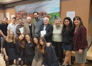 Bialik high school students meet Holocaust survivor